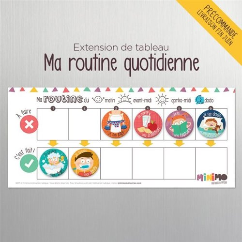 Extension de tableau Ma routine quotidienne