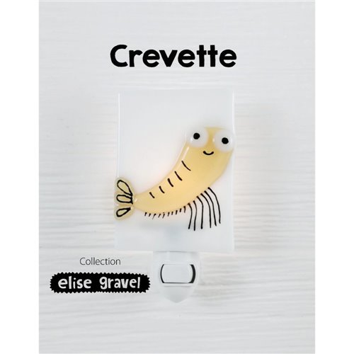 Veilleuse Crevette - Collection Élise Gravel - Ampoule DEL