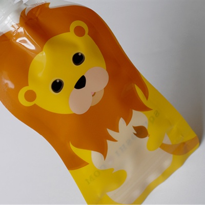 Lion- Pochette à collation réutilisable 100 ml