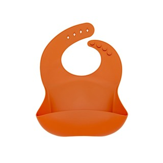 Bavette silicone - Orange brûlé