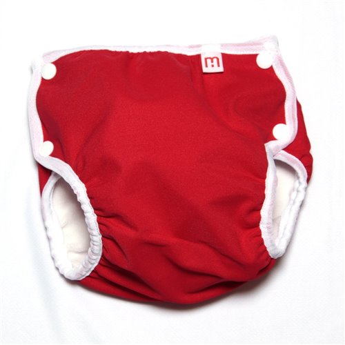 Couche-maillot UV 50 - Rouge 25-40 lb