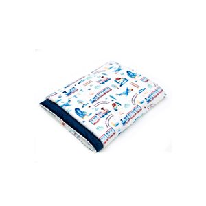 Couverture Minky - Avion et train 28 x 40