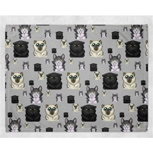 Couverture Minky - Chat 30 x 40