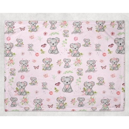 Couverture Minky - Koala Rose 30 x 40