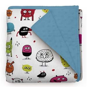 Couverture Minky Monstres 28 x 40