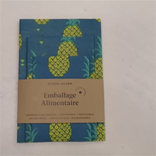 Emballage alimentaire trio - Ananas