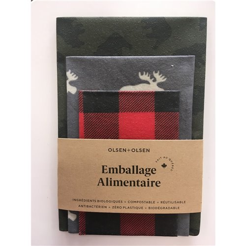 Emballage alimentaire trio - Chalet