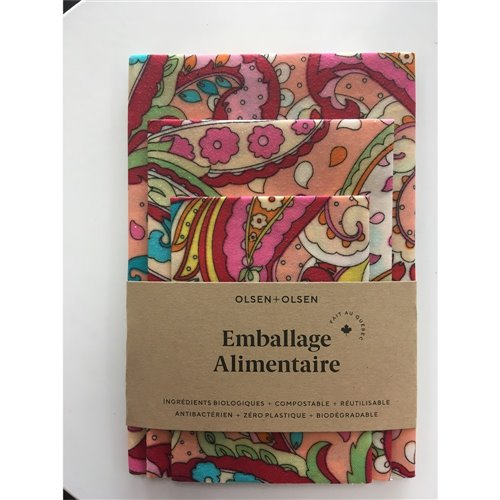Emballage alimentaire trio - Hippie