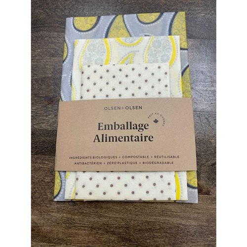 Emballage alimentaire trio Paisley