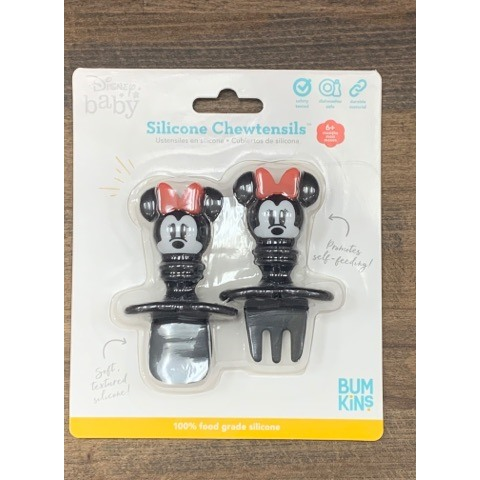 Ensemble de 2 couverts en silicone Chewtensils - Minnie