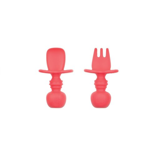 Ensemble de 2 couverts en silicone - Rouge