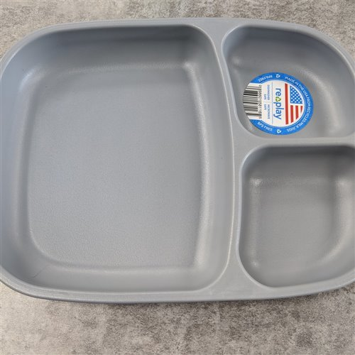 Grande Assiette à compartiments Gris