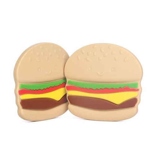 Jouet de dention en silicone - Hamburger