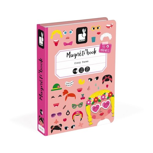 Magnéti'book - Crazy face - Fille (65 mcx)