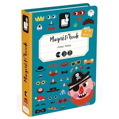 Magnéti'book - Crazy face - garcon  (82 mcx)