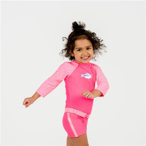 Maillot Surfeuse Rose 6-6X