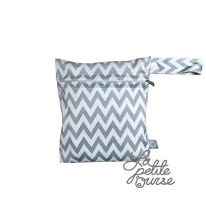 Mini-sac de transport 15 x 17 cm - Chevron gris