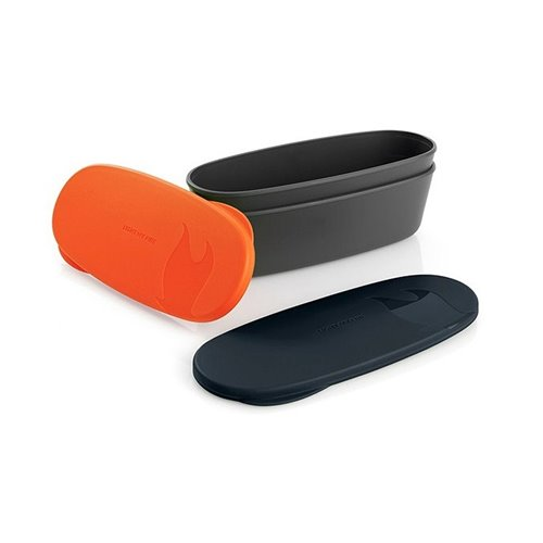 Snapbox Oval - pqt de 2 - Noir/Orange