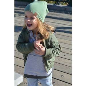 Tuque Bambeanie vert olive enfant (1-10 ans)