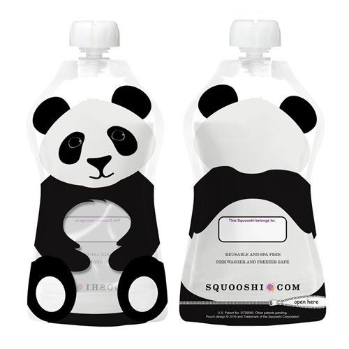 Panda -Pochette à collation réutilisable 175ml