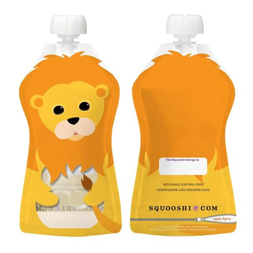 Lion- Pochette à collation réutilisable 175 ml
