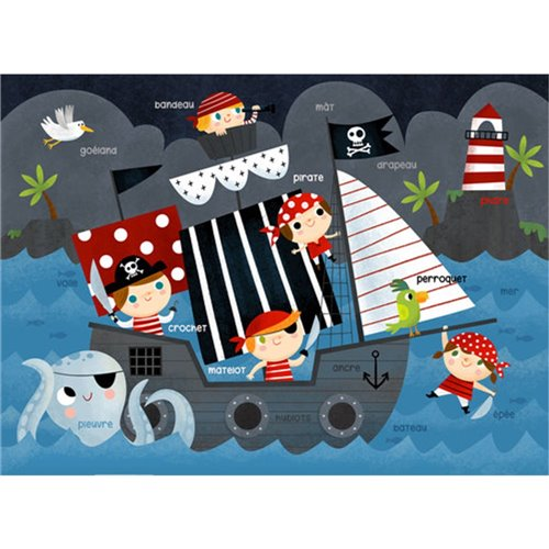 Couverture Minky Apprentissage - Pirates 30 x 40
