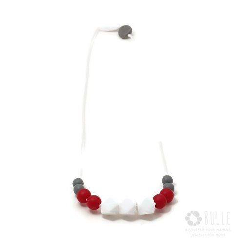 Collier de Dentition Minimaliste - Rubis