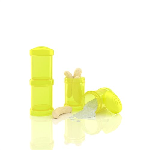 Ensemble de 2 contenants  100 ml Jaune