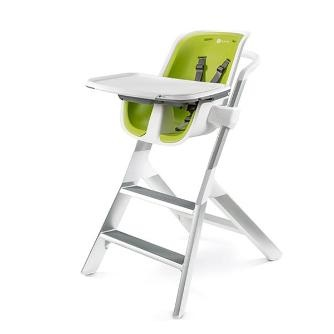 Chaise-Haute Blanc - Coussin Lime