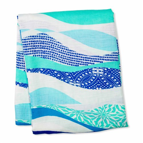 Couverture 120 cm x 120 cm Bambou - Waves