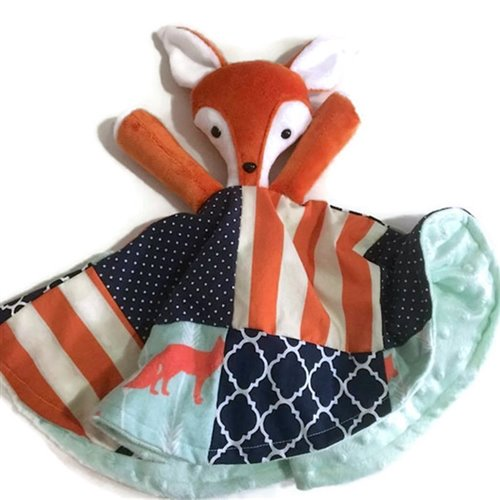 Doudou Sécurisante Renard Orange et marine