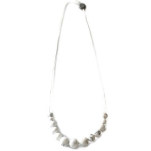 Collier de Dentition Minimaliste - Marbre