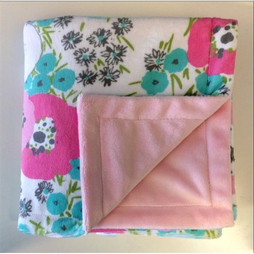 Couverture Unie - Floral Rose