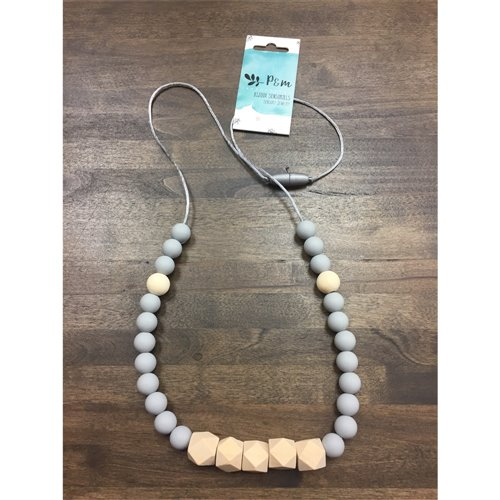 Collier de dentition - Prisme Bois - Gris