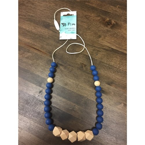 Collier de dentition - Prisme Bois - Marine