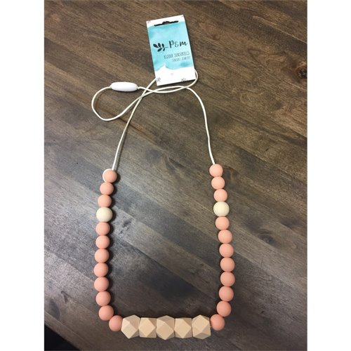 Collier de dentition - Prisme Bois - Rose Miel