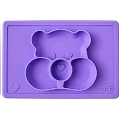 Calinours Mat Share Bear - Mauve