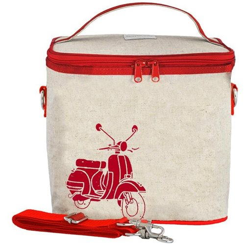 Grand sac isolé  - scooter rouge