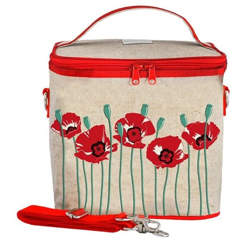 Grand sac isolé  - coquelicot rouge