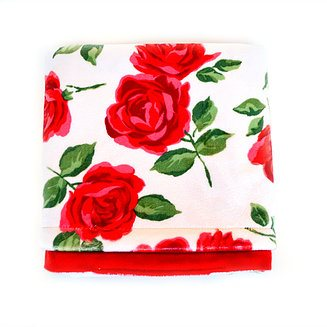 Couverture Unie - Roses Rouge