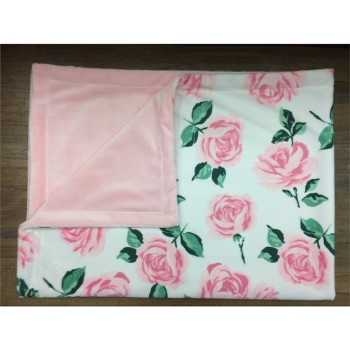 Couverture Unie - Roses Rose