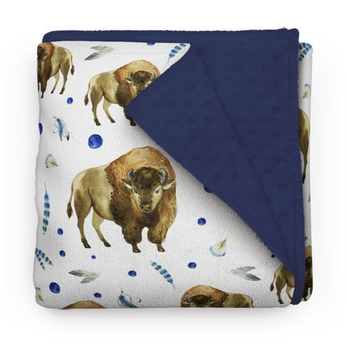 Couverture Minky Bisons 30 x 40
