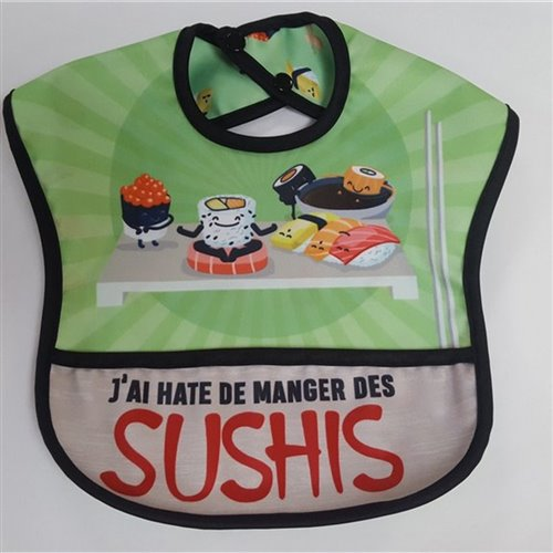 Bavette Best-Ever Bib sans manches - Sushis