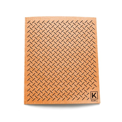 Essuie-tout réutilisable - Diamand Plate - Orange 6.75 x 8