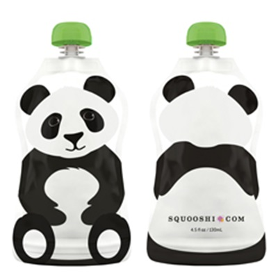 Pochette à collation réutilisable 130ml - Panda