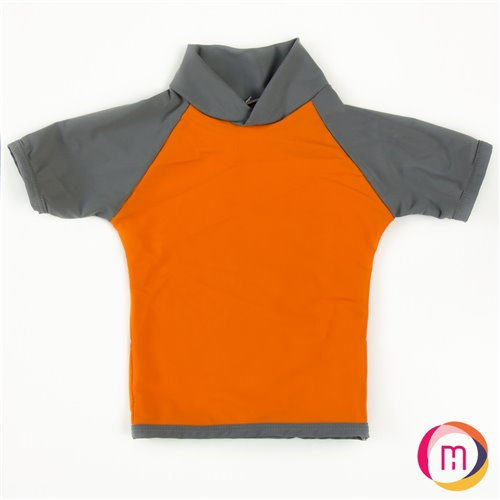 Gilet-maillot  UV 50 - Orange / Charbon 6 mois
