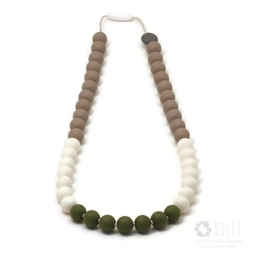 Collier de dentition - Color Bloc - Eucalyptus