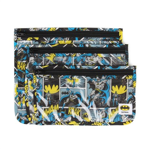3 pochettes translucides de transport - Batman