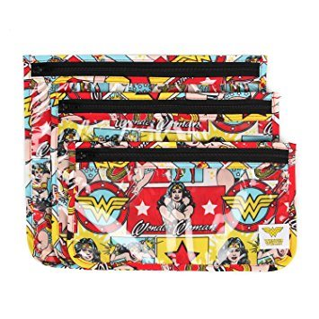 Ensemble de 3 pochettes de transport - Wonder Woman