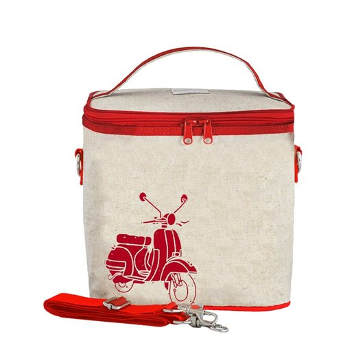 Petit sac isolé scooter rouge